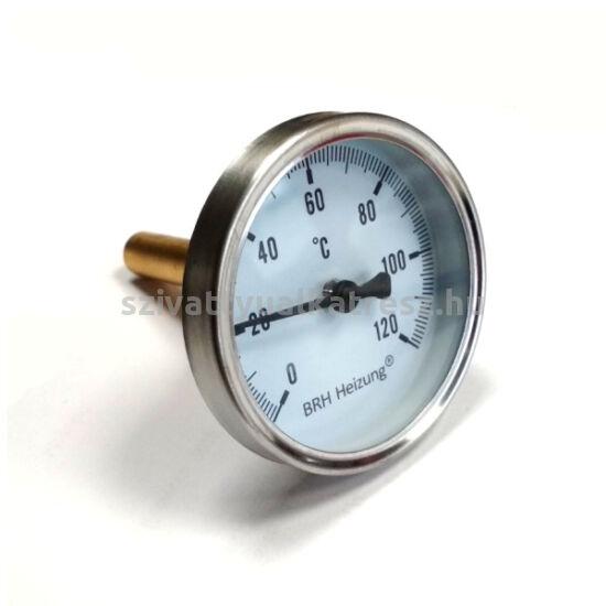 Bimetál hőmérő 0 +120˚C-os, 6cm-es, védőcsővel