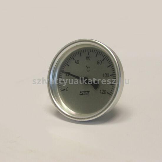 Bimetál hőmérő 0 +120˚C-os, 30cm-es, frontgyűrűs