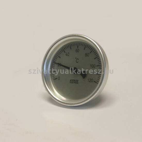Bimetál hőmérő 0 +120˚C-os, 6cm-es, frontgyűrűs