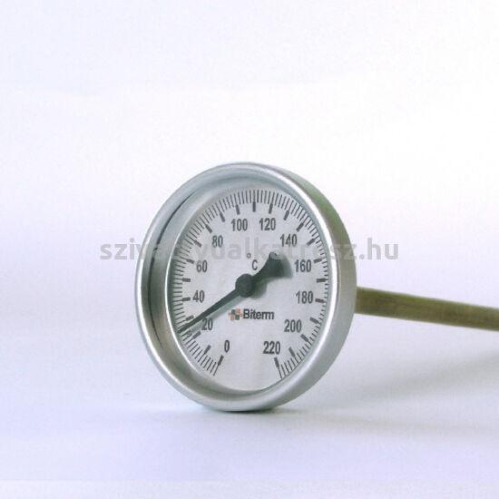 Bimetál hőmérő 0 +220˚C-os, 10cm-es, menet nélkül