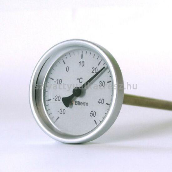 Bimetál hőmérő  -30 +50˚C-os, 30cm-es