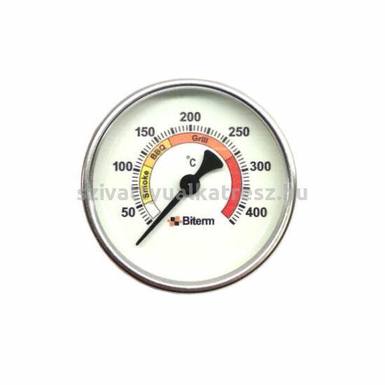 Grill, BBQ, Smoke hőmérő 0+400˚C-os, 6cm-es
