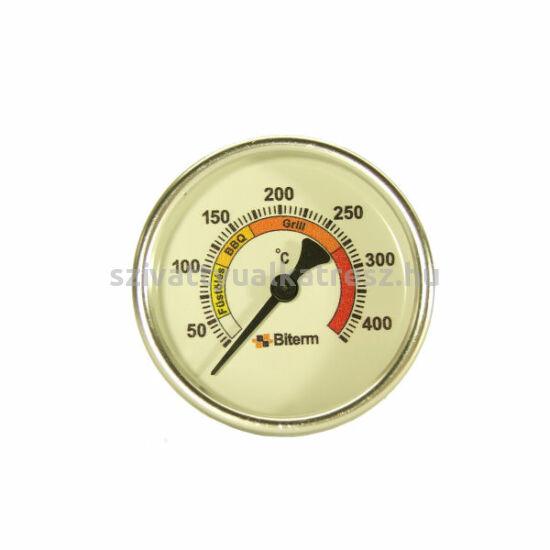 Grill hőmérő 0+400˚C-os, 6cm-es