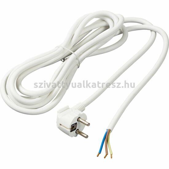 Elektromos bekötőkábel, 3x1,5mm2,  230V,  fehér, PVC