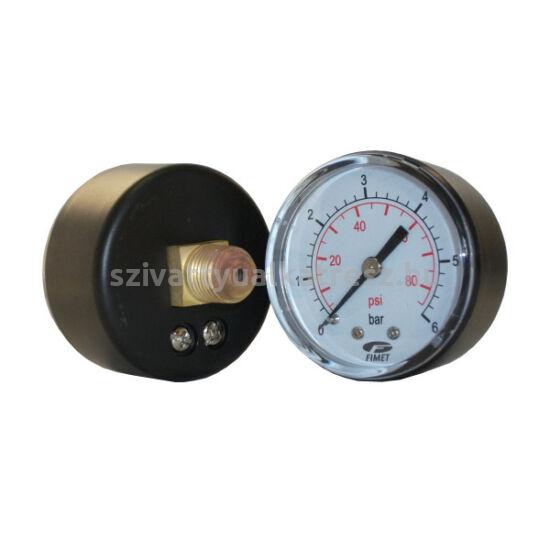 """Nyomásmérő óra házi vízellátóhoz, 0-6b, hátsó, 1/4"""""""